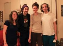 The crew: Beky, Chad, me, Jonathan