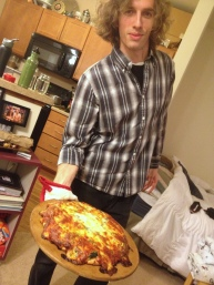 Frozen pizza night